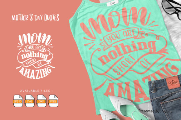 10 Mother's Day Bundle | Lettering Quote Graphic Design Item