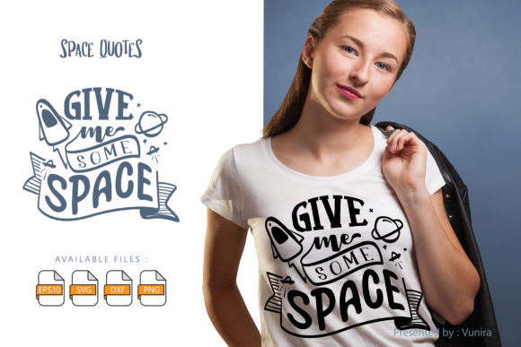 10 Space Bundle | Lettering Quotes Graphic Download