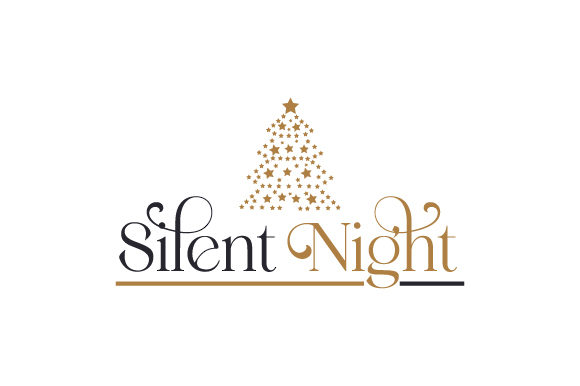 SIlent Night Christmas Craft Cut File By Creative Fabrica Crafts