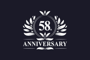 Print on Demand: 58th Anniversary Celebration Graphic Logos By Netart