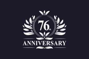 Print on Demand: 76th Anniversary Celebration Graphic Logos By Netart