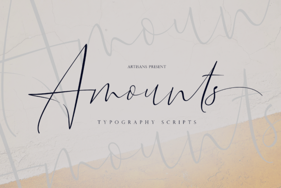 Print on Demand: Amounts Script & Handwritten Font By Artisans