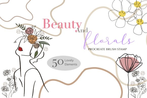 Print on Demand: Beauty and Florals Procreate Brush Stamp Graphic Brushes By Pui Pui