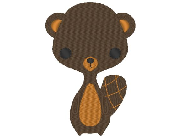 Beaver Cutie Baby Animals Embroidery Design By carasembor