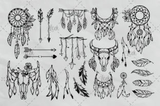 Bohemian Tribal Bundle Graphic Crafts By AllmoStudio