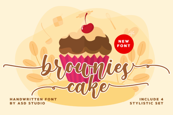Print on Demand: Brownies Cake Script & Handwritten Font By Asd Studio