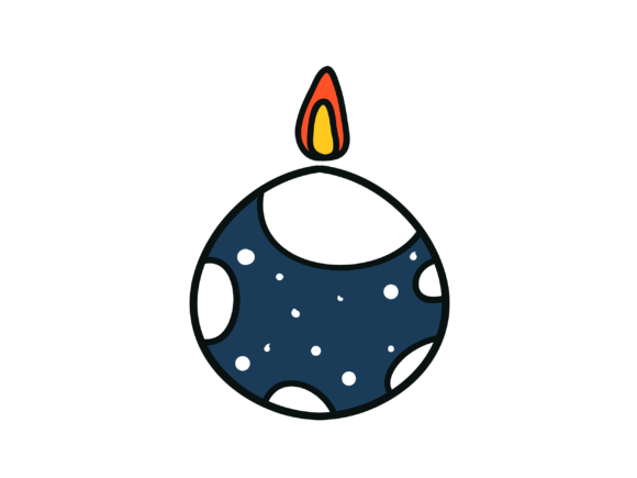 Candles in Christmas Night Celebrate Graphic Icons By themagicboxart