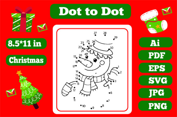 Print on Demand: Christmas Connect the Dots for Kids 2 Graphic Coloring Pages & Books Kids By KDP_Interior_101