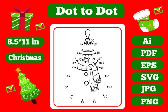 Print on Demand: Christmas Connect the Dots for Kids 4 Graphic Coloring Pages & Books Kids By KDP_Interior_101