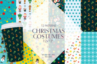 Print on Demand: Christmas Costumes Graphic Patterns By Prettygrafik