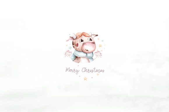 Christmas Cute Bulls Collection! Graphic Graphic