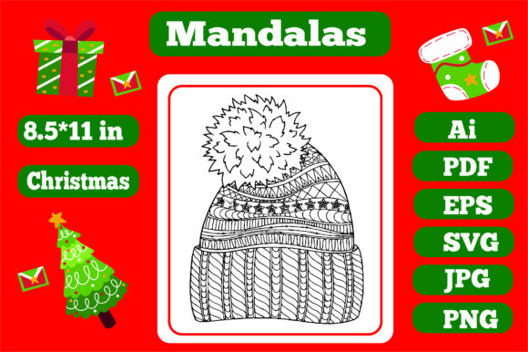 Print on Demand: Christmas Mandala for Adults 2 Graphic Coloring Pages & Books Adults By KDP_Interior_101