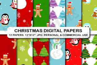Christmas Scrapbook Digital Papers Pack Graphic Backgrounds By bestgraphicsonline