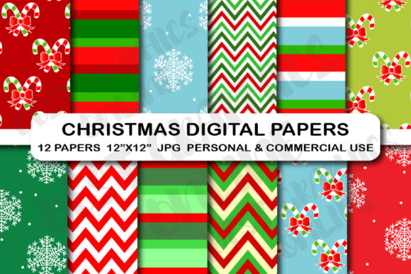 Christmas Digital Background Papers Graphic Backgrounds By bestgraphicsonline