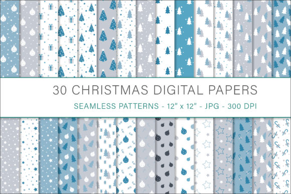 Print on Demand: Christmas Digital Papers Graphic Patterns By AS Digitale