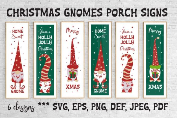 Christmas Gnomes Porch Signs. Svg Cuttin Graphic Crafts By inkoly.art