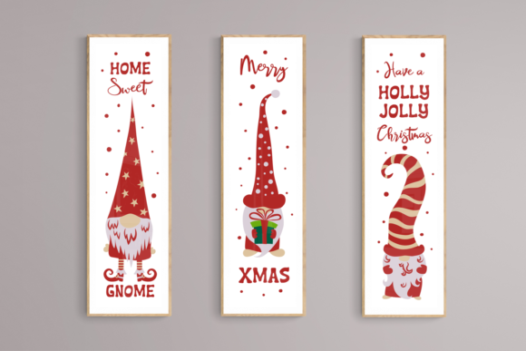 Christmas Gnomes Porch Signs. Svg Cuttin Graphic Download