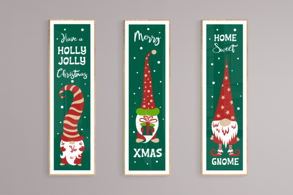 Christmas Gnomes Porch Signs. Svg Cuttin Graphic Item
