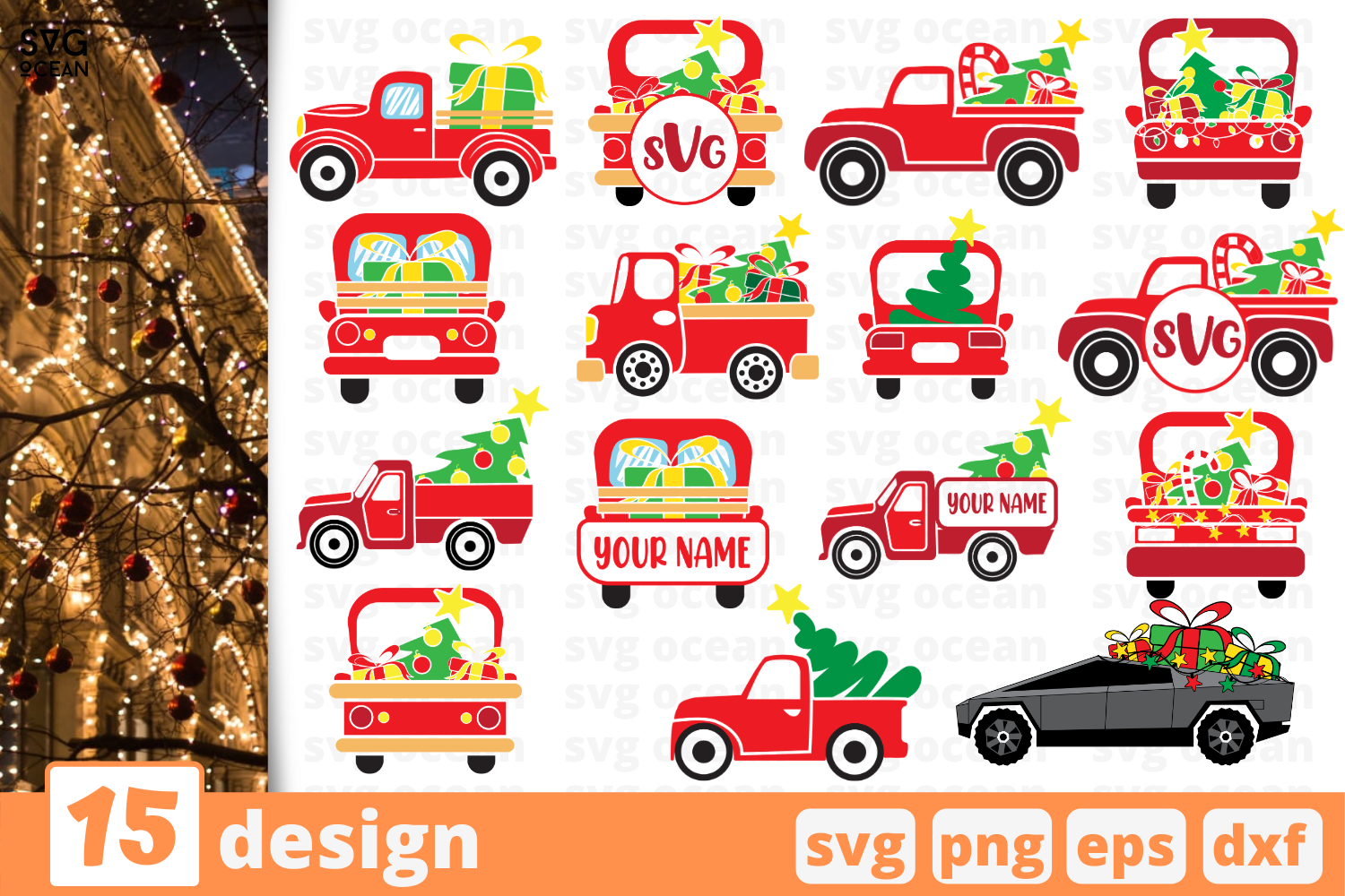 Christmas Truck Svg Bundle Graphic By Svgocean Creative Fabrica