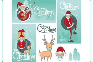 Christmas with the Masked Templates Graphic Print Templates By ayobergembira