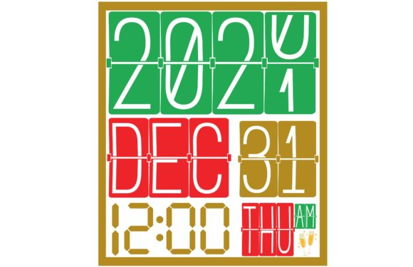 Clock Happy New Year Graphic Crafts By CREATIVE M.D