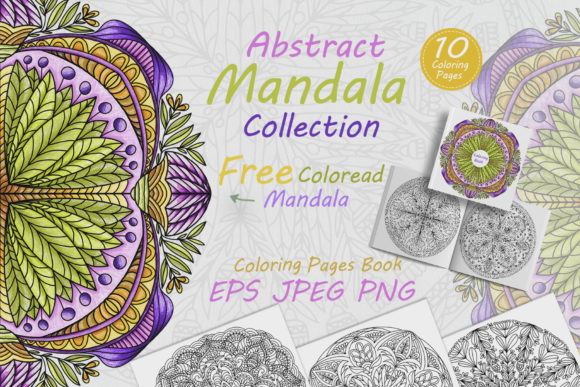 Collection of Mandalas for Coloring Graphic Coloring Pages & Books Adults By FolkStyleStudio