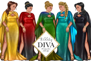 Print on Demand: Curvy Fashion Girls Png Set Graphic Illustrations By TheGGShop