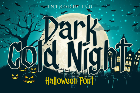 Print on Demand: Dark Cold Night Display Font By gunawanletter