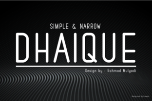 Print on Demand: Dhaique Sans Serif Font By BaronWNM