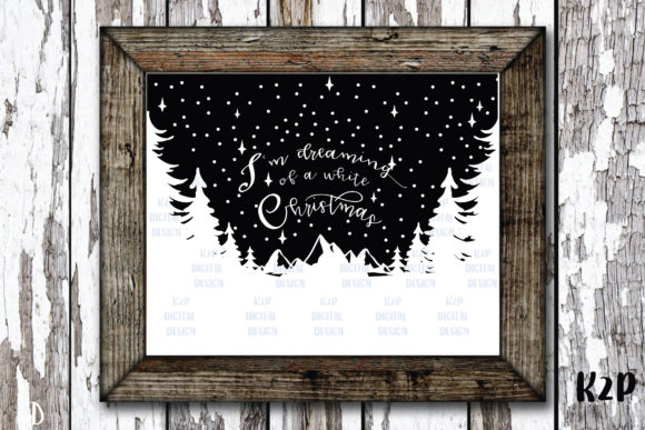 Print on Demand: Dreaming of a White Christmas SVG Graphic Crafts By KtwoP