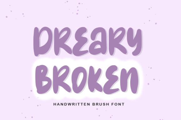 Print on Demand: Dreary Broken Display Font By hugefonts