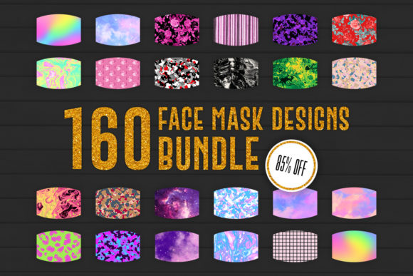 Print on Demand: Face Mask Designs BUNDLE Graphic Crafts By Sabina Leja