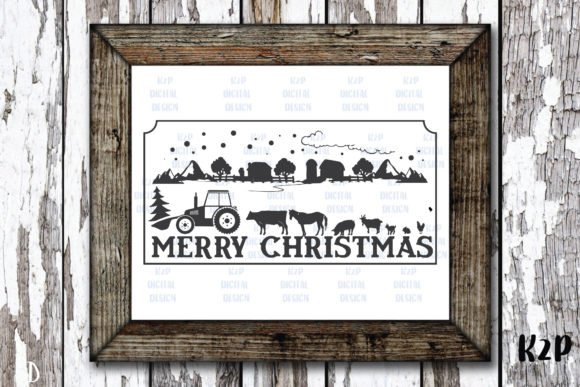 Print on Demand: Farm Fresh Christmas Trees Sign SVG Graphic Crafts By KtwoP