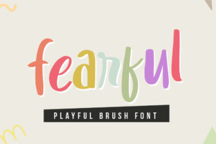 Print on Demand: Fearful Display Font By hugefonts
