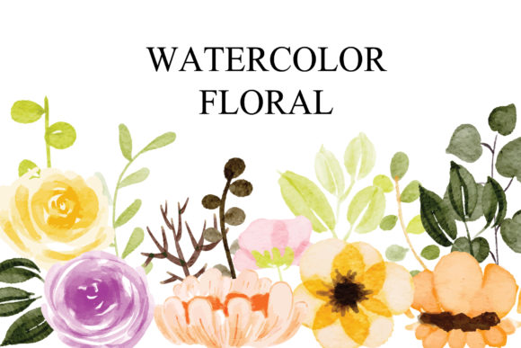 Print on Demand: Floral Set EPS Graphic Illustrations By goodigital