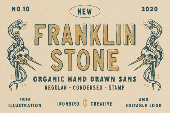 Print on Demand: Franklin Stone Display Font By ironbirdcreative