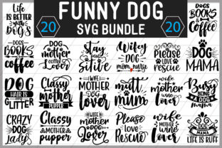 Funny Dog SVG Bundle Graphic Crafts By creative store.net