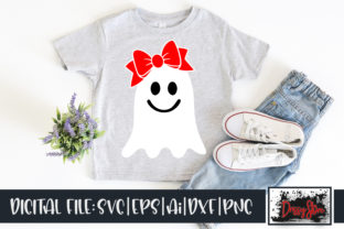 Ghost with Bow Graphic Illustrations By DrissyStore