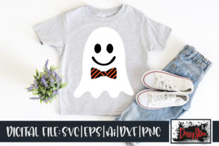 Ghost with Tie Graphic Illustrations By DrissyStore