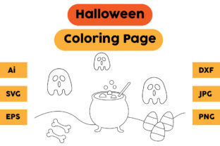 Halloween Coloring Page 44 Graphic Coloring Pages & Books Kids By isalsemarang
