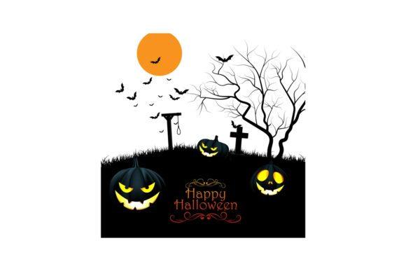 Halloween Scary Pumpkin Graphic Crafts By artnovi