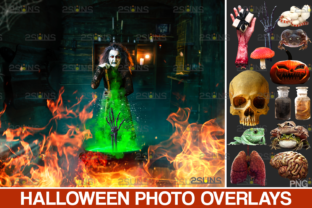 Halloween Overlay & Photoshop Fire Graphic Actions & Presets By 2SUNS