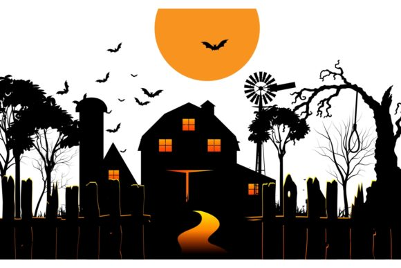 Halloween Scary Farmhouse Graphic Crafts By artnovi