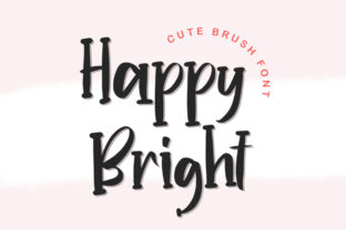 Print on Demand: Happy Bright Display Font By hugefonts