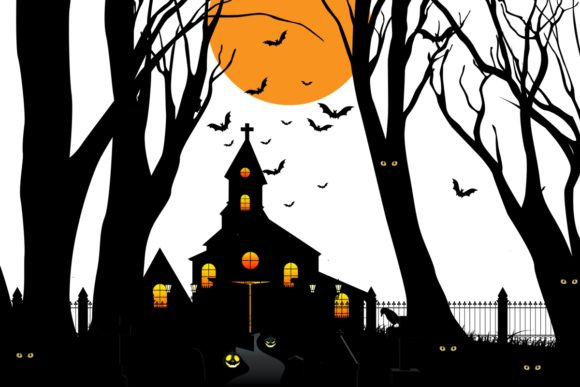 Haunted House Graphic Crafts By artnovi