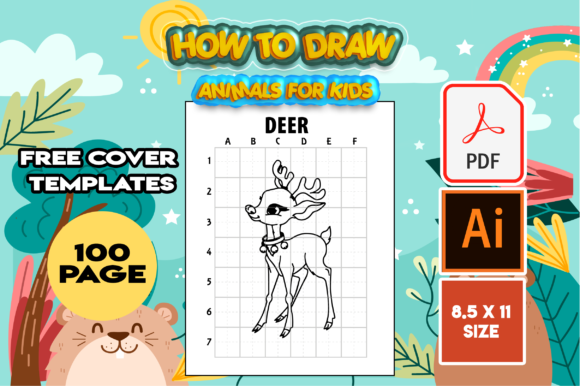 Print on Demand: How to Draw Cute Animals | Kdp Interior Graphic KDP Interiors By MK DESIGN