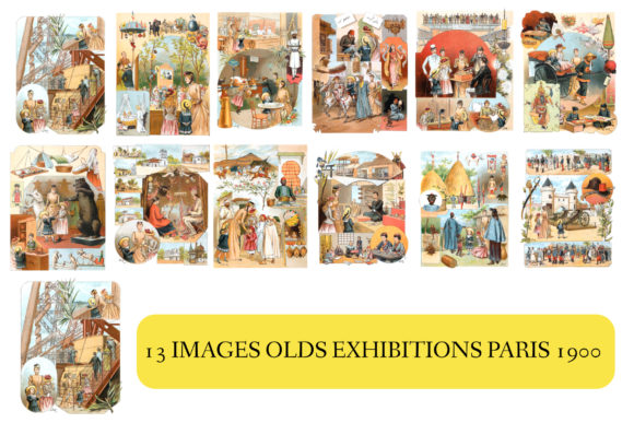 Print on Demand: IMAGE OLD EXHIBITION PARIS 1900 Graphic Illustrations By kdp Edition