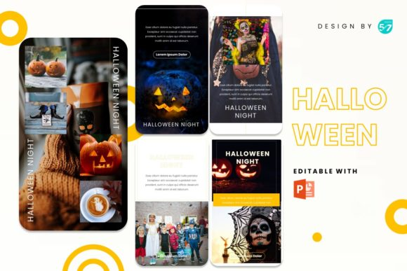 Instagram Stories Template - Halloween Graphic Presentation Templates By 57creative