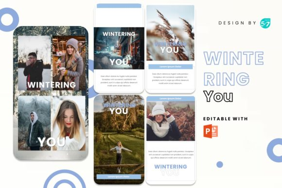 Instagram Stories - Wintering You Graphic Presentation Templates By 57creative