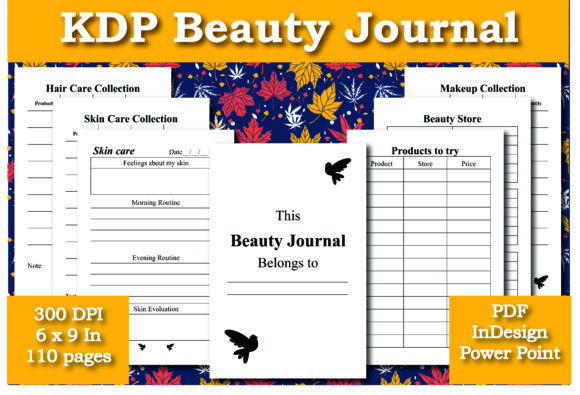 Print on Demand: KDP Beauty Journal Interior Graphic KDP Interiors By Ivana Prue